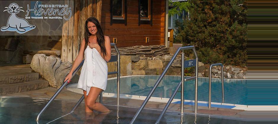 Gutschein für Ihr Gutschein für Saunawelt und Badespaß zum halben Preis! von Freizeitbad Heveney